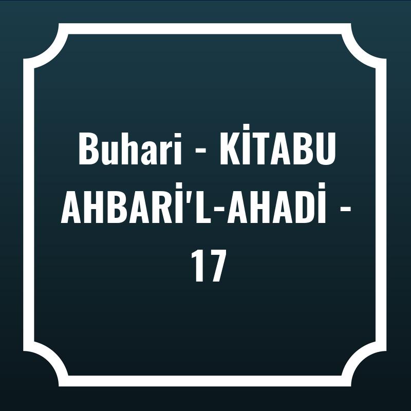 Buhari - KİTABU AHBARİ'L-AHADİ - 17