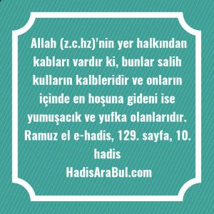 Allah (z.c.hz)'nin yer halkından kabları ... hadisinin tamamı